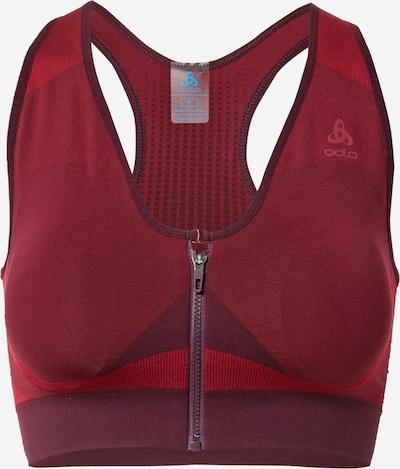 ODLO Sport-BH in rot / karminrot / dunkelrot, Produktansicht