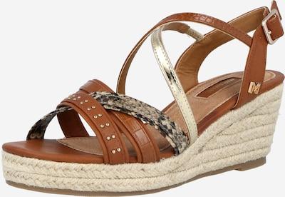 MARIAMARE Páskové sandály 'ILSA' - hnědá / zlatá, Produkt
