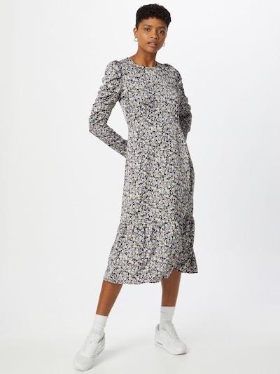 Neo Noir Kleid 'Suzann' in grün / lila / schwarz / weiß, Modelansicht