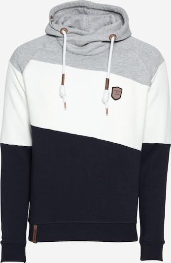 INDICODE JEANS Sweatshirt 'Pessac' in navy / graumeliert / weiß, Produktansicht
