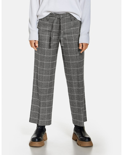 GERRY WEBER Hose in grau / rot / schwarz / weiß, Modelansicht