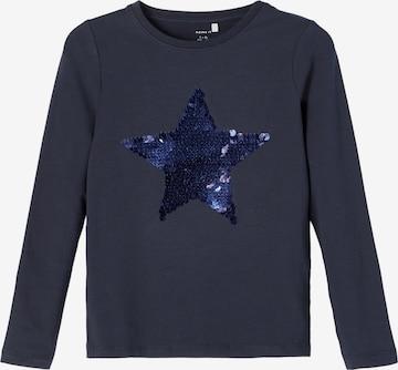 NAME IT Shirt 'Lie' in Blauw