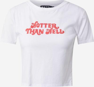 Motel T-Shirt in pastellrot / weiß, Produktansicht