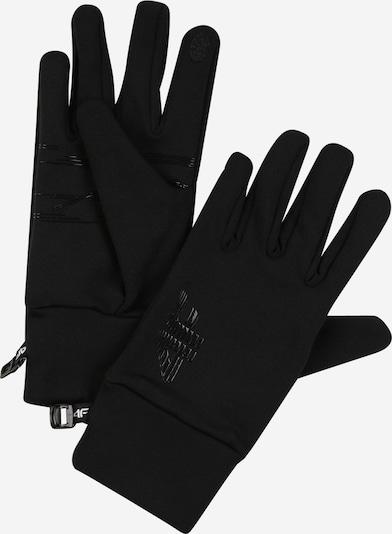 4F Gants de sport en noir, Vue avec produit