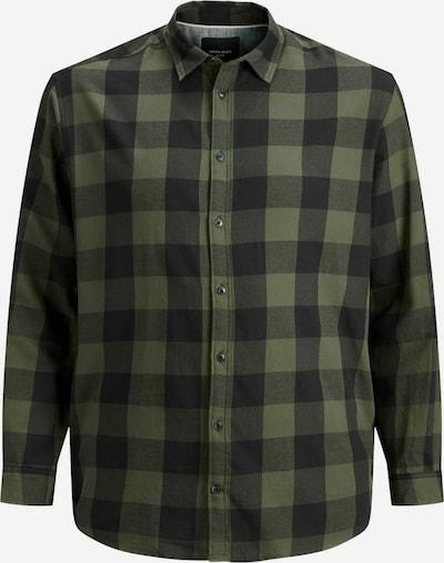 JACK & JONES Hemd in graphit / khaki, Produktansicht