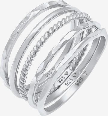 ELLI Jewelry Set 'Bandring, Geo' in Silver