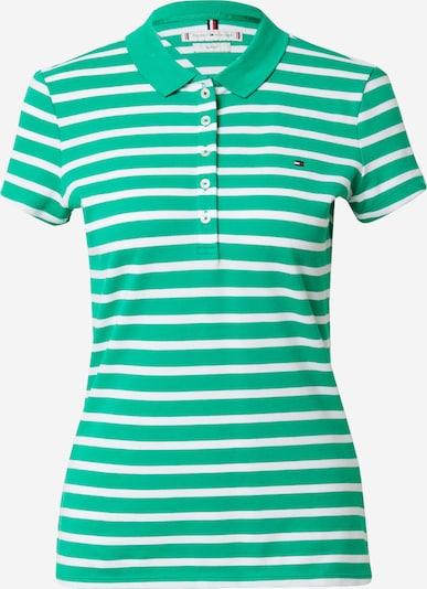 TOMMY HILFIGER Shirt in grün / weiß, Produktansicht