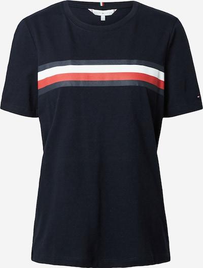 TOMMY HILFIGER Tričko - tmavě modrá / červená / bílá, Produkt