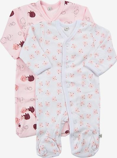 Pippi Schlafanzug in rosa / weiß, Produktansicht