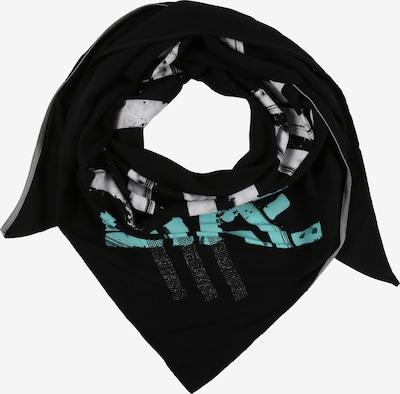 Doris Streich Dreieckstuch in hellblau / schwarz / weiß, Produktansicht