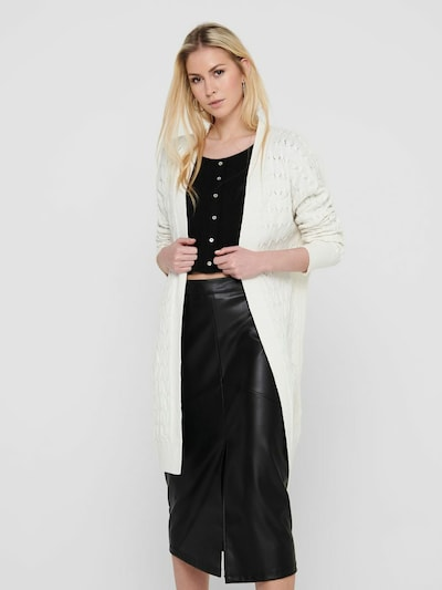 ONLY Gebreid vest in de kleur Crème, Modelweergave