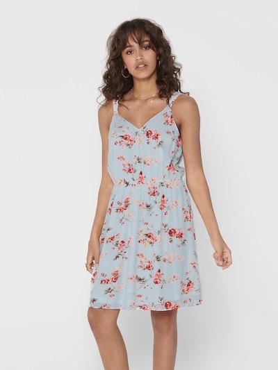 ONLY Kleid 'KARMEN' in opal / dunkelgrün / puder / rostrot, Modelansicht