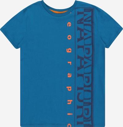 NAPAPIJRI Shirt 'K SADYR' in navy / royalblau / orange, Produktansicht