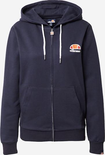 ELLESSE Sweatjacke 'Daje' in navy / orange / rot, Produktansicht