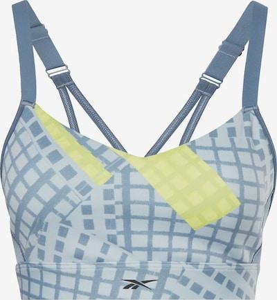 Reebok Sport BH in blau / gelb, Produktansicht