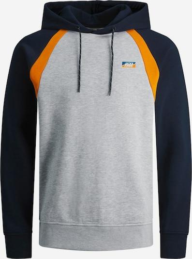 JACK & JONES Sweatshirt in de kleur Nachtblauw / Grijs gemêleerd / Sinaasappel: Vooraanzicht