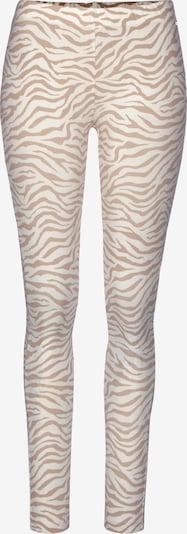 LASCANA Pyjamabroek in de kleur Beige / Wit, Productweergave