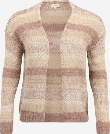 ONLY Carmakoma Knit cardigan 'Maya' in Beige