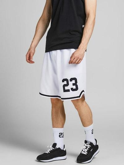 JACK & JONES Kalhoty - černá / bílá, Model/ka