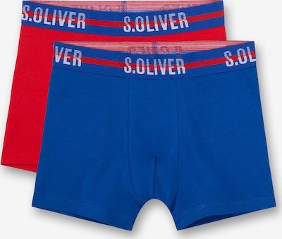 s.Oliver Boxershorts in blau / rot, Produktansicht