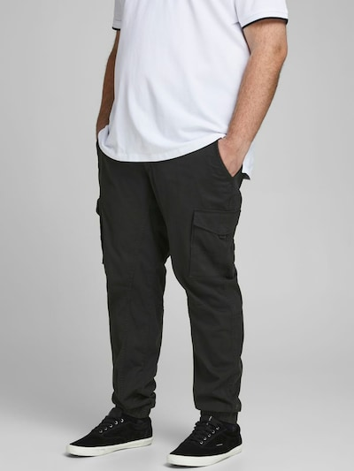 Jack & Jones Plus Hose 'Paul' in schwarz, Modelansicht