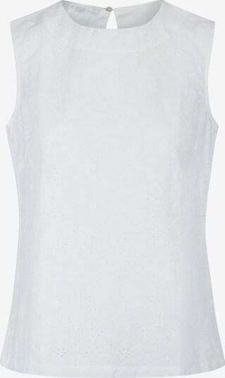 mint & mia Bluse mit Stickerei in gerader Form in weiß, Produktansicht