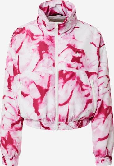 Calvin Klein Jeans Prijelazna jakna 'AOP PACKABLE HOOD WINDBREAKER' u roza / crvena / bijela, Pregled proizvoda