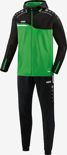 JAKO Trainingsanzug in grasgrün / schwarz / weiß, Produktansicht
