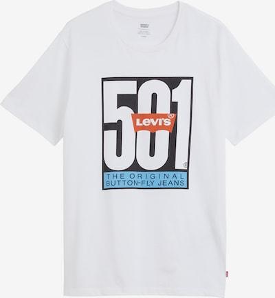 LEVI'S Shirt 'LSE HOUSEMARK GRAPHIC TEE' in hellblau / dunkelblau / orange / weiß, Produktansicht