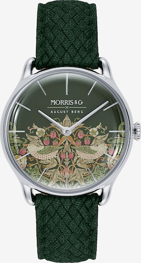 August Berg Uhr 'MORRIS & CO Silver Green Perlon 30mm' in grün, Produktansicht