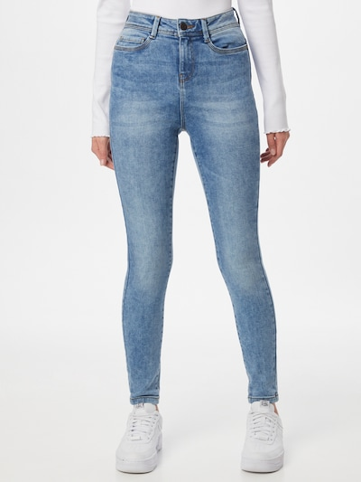 Noisy may Jeans 'AGNES' in de kleur Blauw denim, Modelweergave