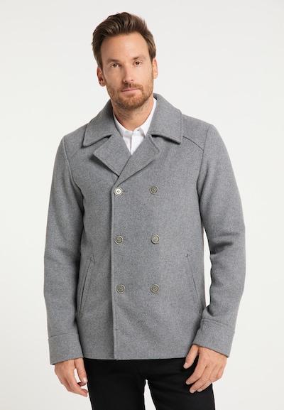 DreiMaster Klassik Manteau mi-saison en gris clair, Vue avec modèle