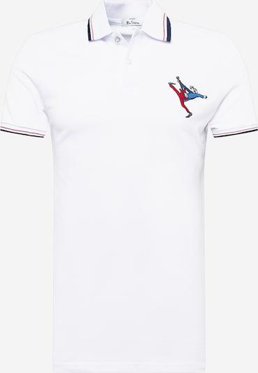 Ben Sherman T-Shirt en bleu / rouge / blanc: Vue de face