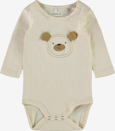 NAME IT Dječji bodi 'Ludvig' u smeđa / vuneno bijela, Pregled proizvoda