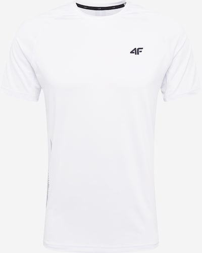 4F Sport-Shirt in schwarz / offwhite, Produktansicht