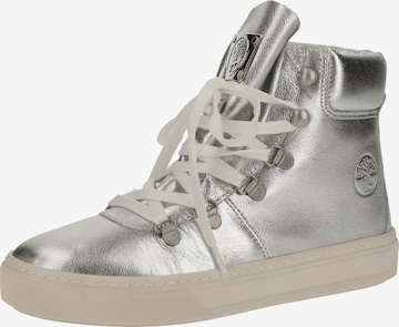 Darkwood Lace-Up Ankle Boots in Silver