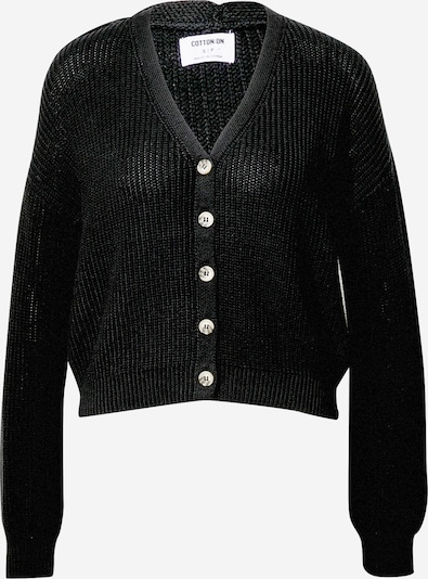 Cotton On Gebreid vest in de kleur Zwart: Vooraanzicht