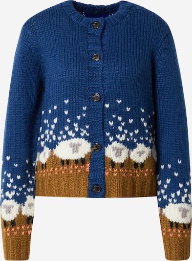Résumé Knit Cardigan 'Gudrun' in Blue / Curry / Pink / White, Item view