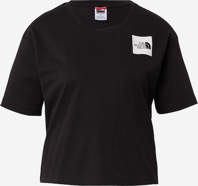 THE NORTH FACE Shirt in black / white: Frontal view