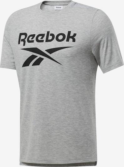 REEBOK T-Shirt fonctionnel 'Workout Ready Supremium' en gris clair / noir, Vue avec produit