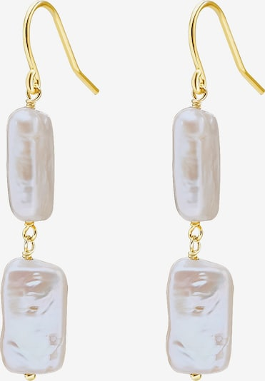 Valero Pearls Silber-Ohrhänger in goldgelb, Produktansicht