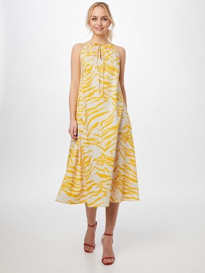 Aligne Kleid 'Caleb' in goldgelb / naturweiß, Modelansicht