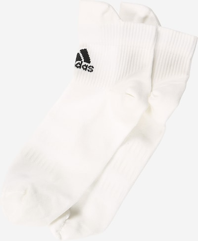 ADIDAS PERFORMANCE Sports socks in black / white, Item view