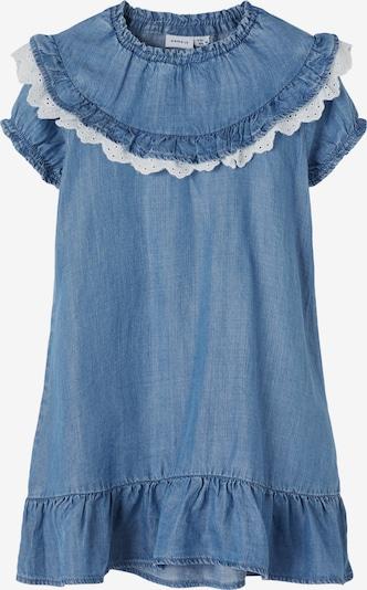 NAME IT Kleid 'Athit' in blue denim / weiß, Produktansicht