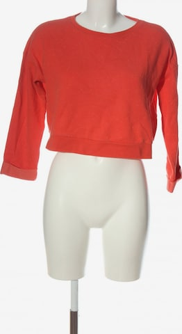 Topshop Sweatshirt & Zip-Up Hoodie in M in Red