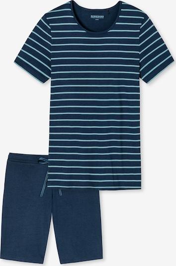 SCHIESSER Pyjama in de kleur Marine / Mintgroen, Productweergave