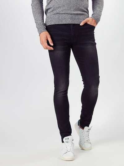 Denim Project Jeans 'MR. BLACK' in de kleur Black denim, Modelweergave