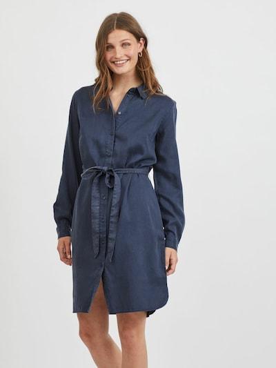 VILA Blusenkleid in dunkelblau, Modelansicht