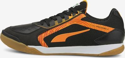 PUMA Voetbalschoen 'Pressing II' in de kleur Sinaasappel / Zwart, Productweergave