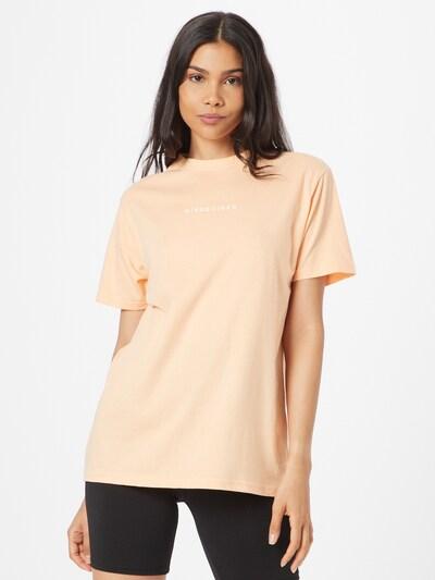 Laisvi marškinėliai iš Missguided, spalva – gelsvai pilka spalva / persikų spalva: Vaizdas iš priekio